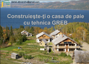Detalii constructie casa baloti de paie